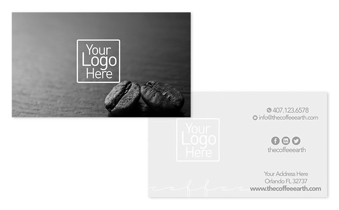 Free vertical business card design the coffee earth flashek Image collections