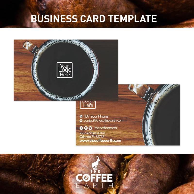 Coffee Shop Business Card Design - The Coffee Earth